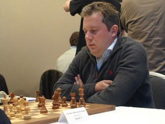 Arkadij Naiditsch over the board. Photo © Georg Kradolfer