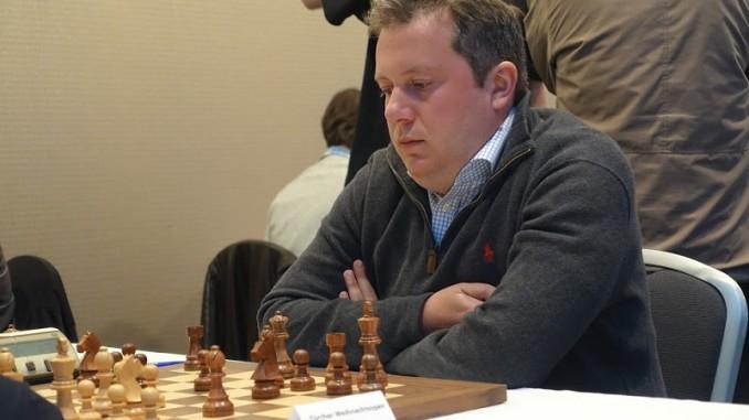 Arkadij Naiditsch over the board. Photo © Georg Kradolfer
