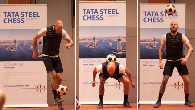 A street football artist.