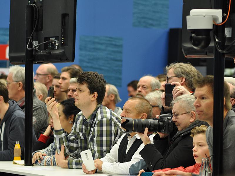 Photo of the spectators