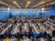 view of the full playing hall at the Tata Steel Chess Tournament | image © www.tatasteelchess.com