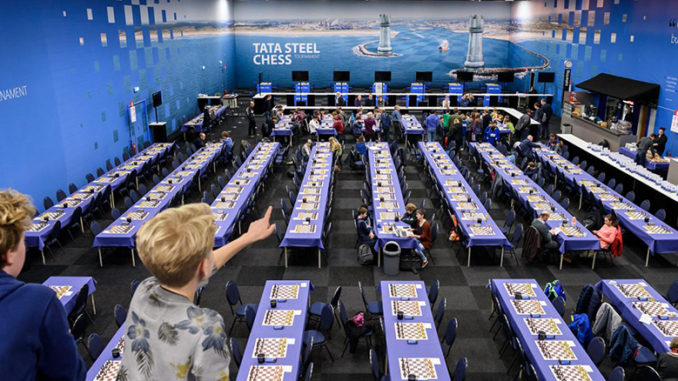 The Tata Steel Chess Tournament will be held 12-28 January 2018 in Wijk aan Zee, the Netherlands. | photo © www.tatasteelchess.com