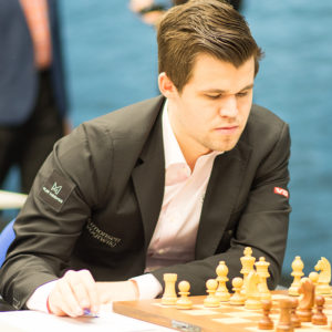 Magnus Carlsen at the 2018 Tata Steel Chess Tournament © | Hot Off The Chess, http://www.hotoffthechess.com