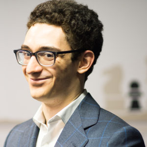 Fabiano Caruana at the 2018 Tata Steel Chess Tournament | © Hot Off The Chess, http://www.hotoffthechess.com