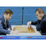 Karjakin vs Mamedyarov, at the 2018 Tata Steel Chess Tournament   © Hot Off The Chess, http://www.hotoffthechess.com