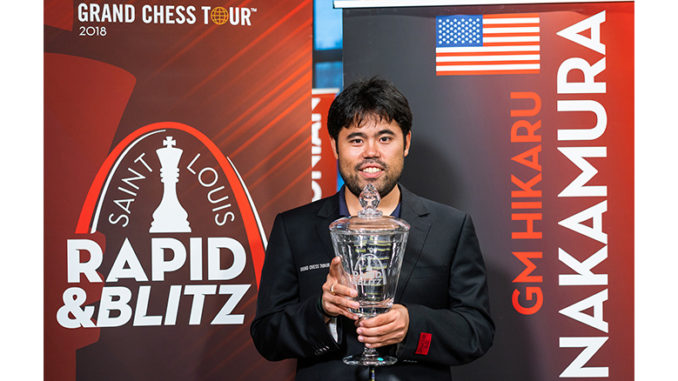 Winner with one round to spare, Hikaru Nakamura. Photo © Lennart Ootes / Grand Chess Tour.