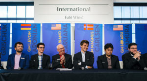The players at the Sinquefield Cup press conference.