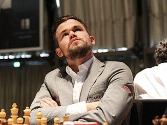 Magnus Carlsen during the Grenke Chess Classic 2019. Image © Georgios Souleidis, http://www.grenkechessclassic.de