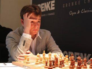 Vincent Keymer during the Grenke Chess Classic 2019. Image © Georgios Souleidis, http://www.grenkechessclassic.de