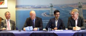 Pictured from left to right: Robert Moens, Theo Henrar, Anish Giri, Jeroen Van Den Berg.